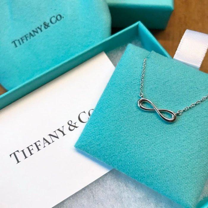 美國百分百【全新真品】Tiffany & Co. 項鍊 純銀 吊飾 專櫃 配件 情人節 原廠包裝 愛無限 C666