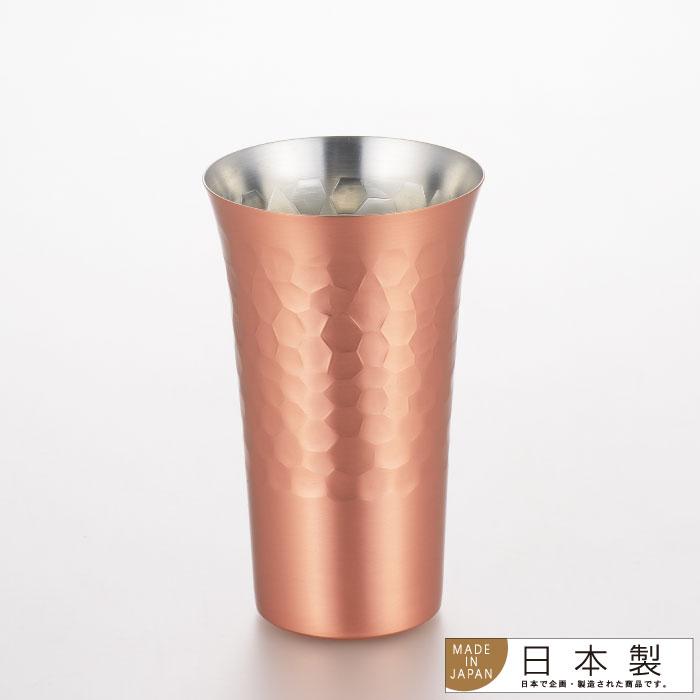 日本製 yoshikawa 工藝槌目純銅啤酒杯 / 飲料杯 / 水杯 / M / 380cc / SJ1817-日本必買 日本樂天代購(3520*0.2) /  件件含運 0