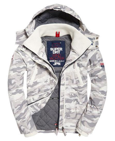 【蟹老闆】SUPERDRY 灰色迷彩 YACHTER JACKET防風外套 防潑水機能性風衣外套 有帽黑標 男款
