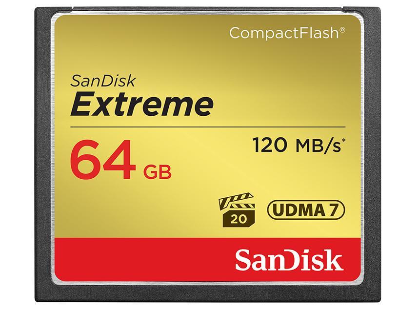 Sandisk Extreme 64G 64GB CF 120MB/s 群光公司貨終身保固 含稅價