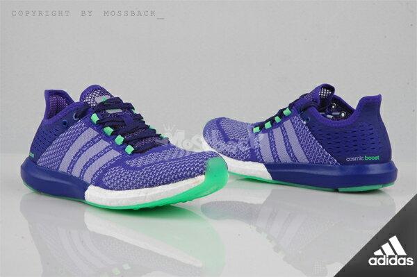 『Mossback』ADIDAS CC COSMIC BOOST W 輕量 慢跑鞋 襪套 紫色(女.)NO:B44499