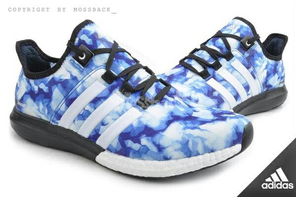 『Mossback』ADIDAS CC GAZELLE BOOST M 輕量 跑鞋 藍色(男.)NO:B44551