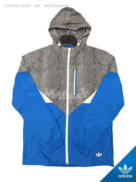 ~Mossback~ADIDAS CLRDO WB JACKET 蛇紋 連帽 外套 藍黑白