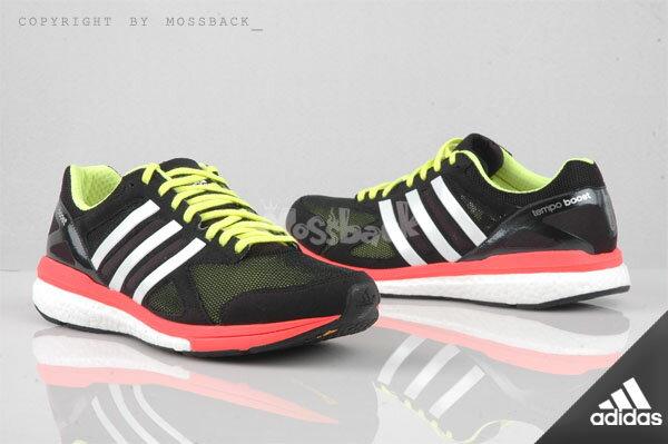 『Mossback』ADIDAS ADIZERO TEMPO 7 M BOOTS 輕量 慢跑 黑色(男)NO:B22860
