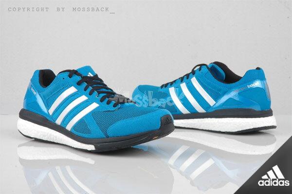 『Mossback』ADIDAS ADIZERO TEMPO 7 M BOOTS 輕量 慢跑 藍色(男)NO:B22863