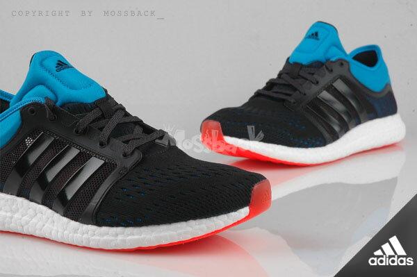 『Mossback』ADIDAS CC ROCKET BOOST 編織 慢跑鞋 黑藍(男)NO:B25275