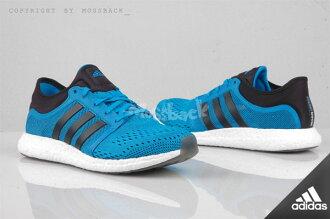 『Mossback』ADIDAS CC ROCKET BOOST 編織 慢跑鞋 黑藍(男)NO:B25276