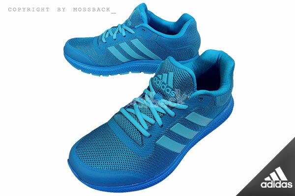 『Mossback』ADIDAS ENERGY BOUNCE M 軟底 輕量 慢跑鞋 水藍(男)NO:B33958