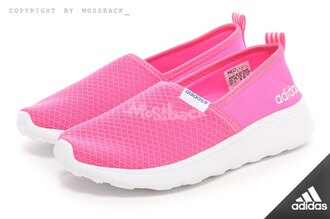 『Mossback』ADIDAS NEO LITE RACER SLIP ON W 輕量 娃娃鞋 粉紅(女)NO:F98980
