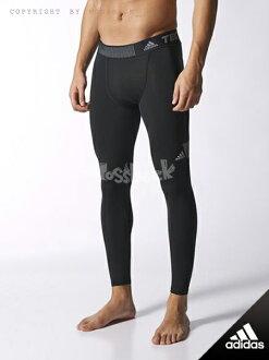 『Mossback』ADIDAS TF COOL L TIGH 運動 緊身褲 束褲 機能褲 黑色(男)NO:S19503