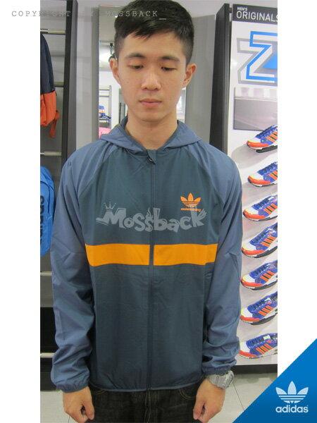 『Mossback』ADIDAS ADV WIND JACKET 防水 風衣 連帽 外套 藍綠橘(男)NO:AB3197