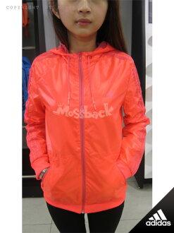 『Mossback』ADIDAS EN 3S WBRK HEBE 風衣 外套 防潑水 連帽 桃紅(女)NO:AB3305