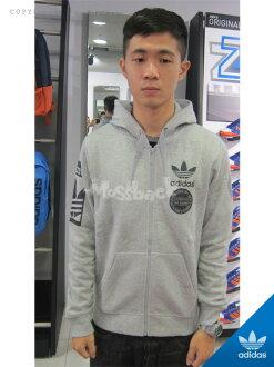 『Mossback』ADIDAS STR GRAPH FZ 棉質 連帽 外套 刷毛 灰色(男)NO:AB8032
