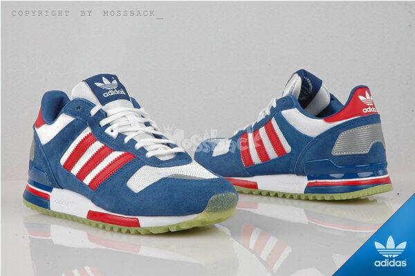 『Mossback』ADIDAS ZX 700 W 經典 復古 麂皮 慢跑鞋 藍白紅(女)NO:S77322