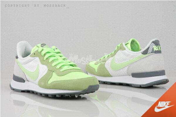 『Mossback』NIKE W INTERNATIONALIST 復古 慢跑鞋 麂皮 灰綠(女)NO:807412-100