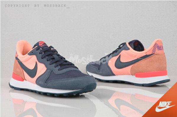 『Mossback』NIKE W INTERNATIONALIST 慢跑鞋 麂皮 藍灰粉橘(女)NO:807412-800