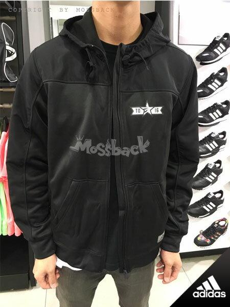 『Mossback』ADIDAS SUPERNOVA 連帽 外套 東西區 黑金(男)NO:AC2655
