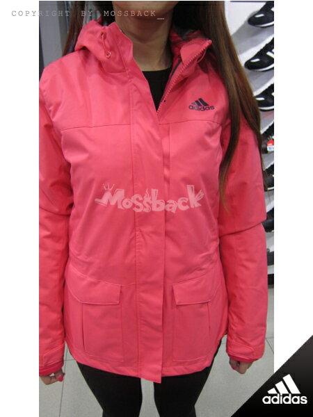 『Mossback』ADIDAS 3IN1YOUNG JKT W 兩件式 連帽 外套 粉色(女)NO:AH6637