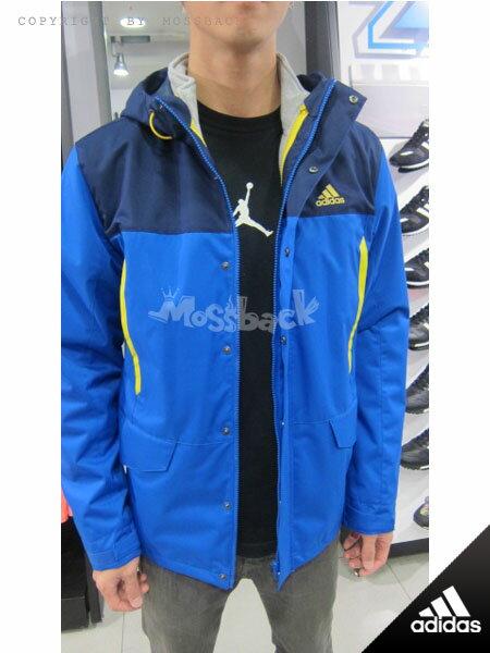 『Mossback』ADIDAS 3IN1YOUNG JKT 兩件式 連帽 外套 藍灰(男)NO:AH6639