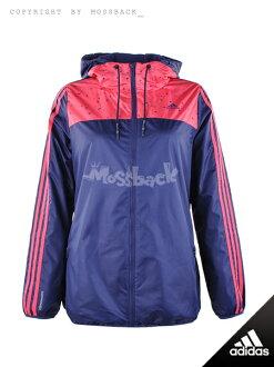 『Mossback』ADIDAS ET WARM WB 連帽 外套 風衣 粉藍(女)NO:AO2172