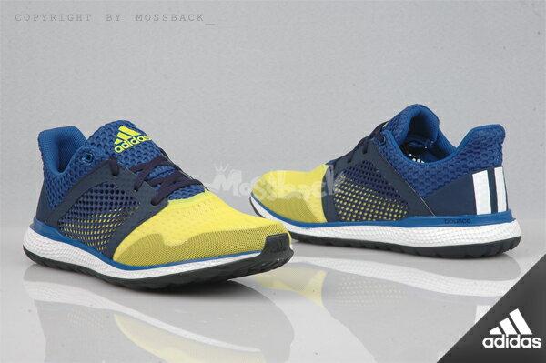 『Mossback』ADIDAS ENERGY BOUNCE 2 M 襪套 慢跑 藍黃(男)NO:AQ3157