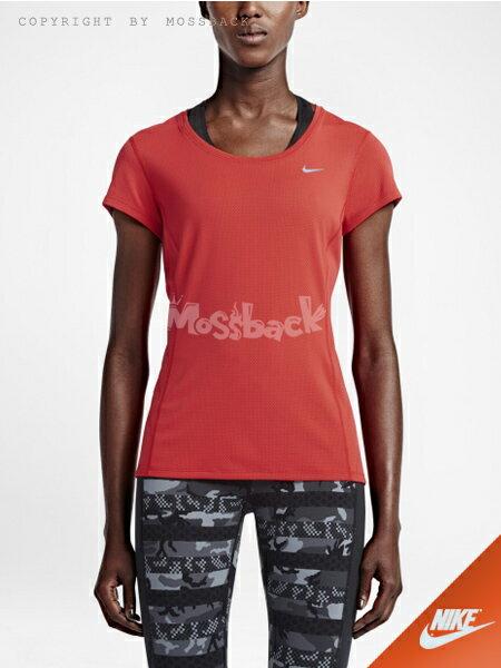 『Mossback』NIKE DRI-FIT CONTOUR 短袖 上衣 淺深紅(女)NO:644695-696