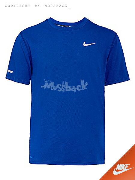 『Mossback』NIKE DRI-FIT CONTOUR SS 短袖 上衣 寶藍(男)NO:683518-455