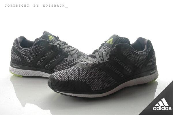 『Mossback』ADIDAS MANA BOUNCE M 慢跑鞋 透氣 避震 黑灰(男)NO:AF4110 0
