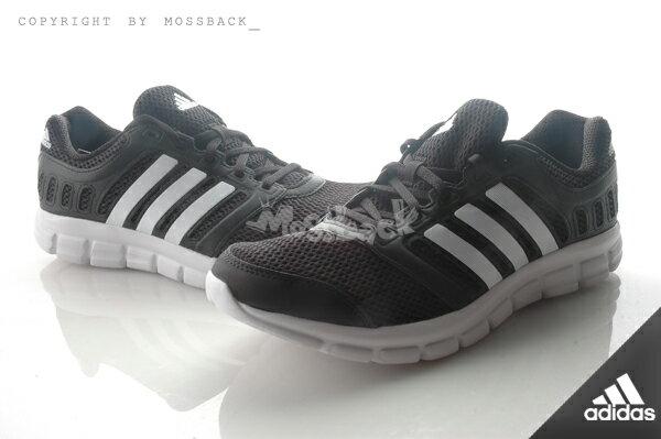 『Mossback』ADIDAS BREEZE 101 2 M 透氣 慢跑鞋 黑白(男)NO:AF5340