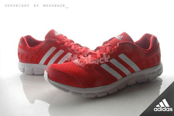 『Mossback』ADIDAS BREEZE 101 2 M 慢跑鞋 透氣 避震 紅白(男)NO:AF5342