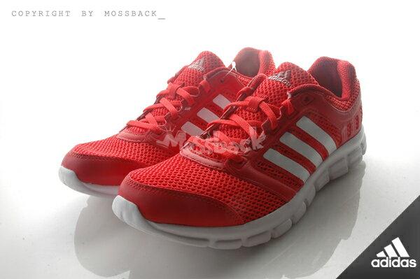 『Mossback』ADIDAS BREEZE 101 2 M 慢跑鞋 透氣 避震 紅白(男)NO:AF5342 1