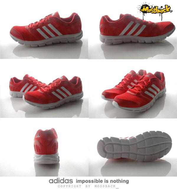 『Mossback』ADIDAS BREEZE 101 2 M 慢跑鞋 透氣 避震 紅白(男)NO:AF5342 2