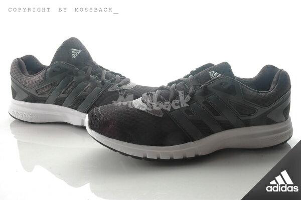~Mossback~ADIDAS GALAXY 2 M 網布 緩震 慢跑鞋 黑灰白 男 N