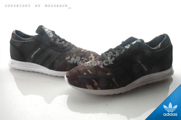 『Mossback』ADIDAS LOS ANGELES 慢跑鞋 馬牌底 黑綠迷彩(男)NO:AQ4543