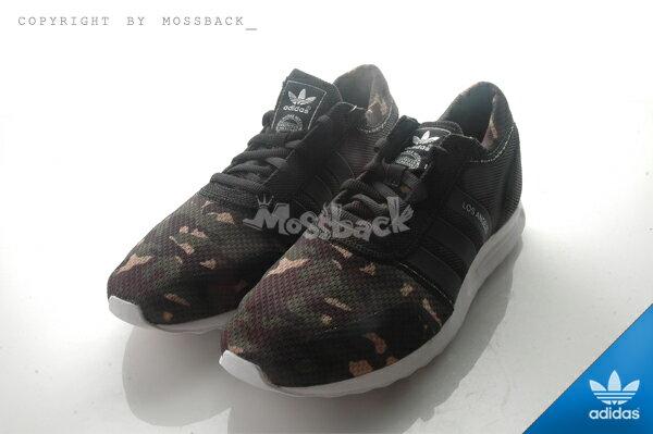 『Mossback』ADIDAS LOS ANGELES 慢跑鞋 馬牌底 黑綠迷彩(男)NO:AQ4543 1