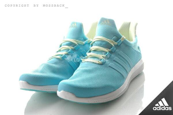 『Mossback』ADIDAS CC SONIC W 輕量 透氣 慢跑鞋 湖水綠(女)NO:AQ4715 1