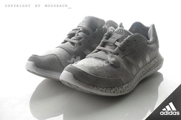 『Mossback』ADIDAS ELEMENT REFRESH W 豹紋底 慢跑鞋 銀灰(女)NO:AQ4959 1