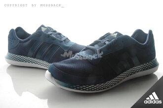 『Mossback』ADIDAS ELEMENT REFRESH M 輕量 慢跑鞋 海軍藍(男)NO:AQ4963