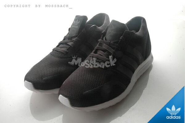 『Mossback』ADIDAS LOS ANGELES 網布 透氣 慢跑鞋 黑白(男)NO:S42019 1