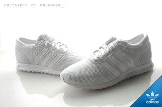 『Mossback』ADIDAS LOS ANGELES 網布 透氣 慢跑鞋 全白(男)NO:S42021