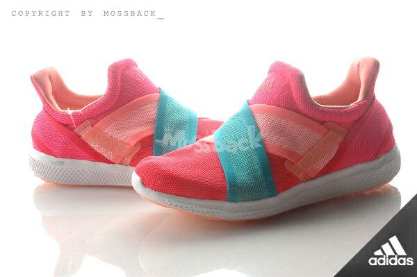 『Mossback』ADIDAS CC SONIC W 襪套 懶人 慢跑 粉橘藍(女)NO:S78230 0