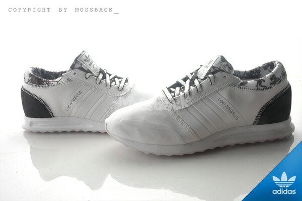 『Mossback』ADIDAS LOS ANGELES W 馬牌底 慢跑鞋 黑白(女)NO:S78915