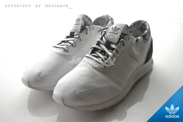 『Mossback』ADIDAS LOS ANGELES W 馬牌底 慢跑鞋 黑白(女)NO:S78915 1