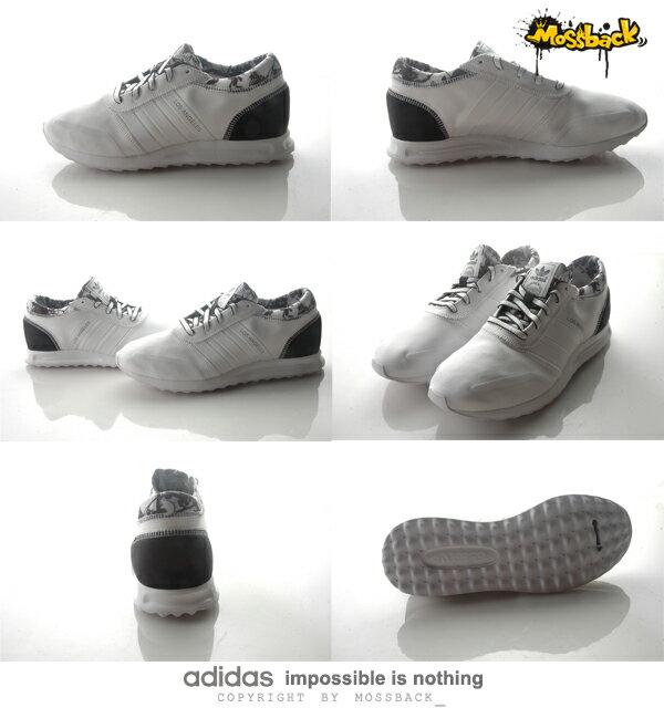 『Mossback』ADIDAS LOS ANGELES W 馬牌底 慢跑鞋 黑白(女)NO:S78915 2