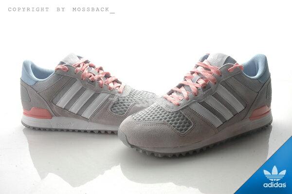 『Mossback』ADIDAS ZX 700 W 慢跑鞋 灰粉藍(女)NO:S78941 0