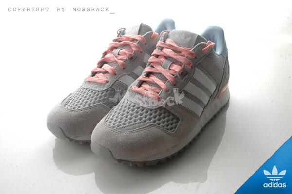 『Mossback』ADIDAS ZX 700 W 慢跑鞋 灰粉藍(女)NO:S78941 1