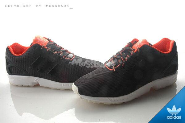 『Mossback』ADIDAS ZX FLUX 輕量 透氣 慢跑鞋 黑螢光橘(男)NO:S79099 0
