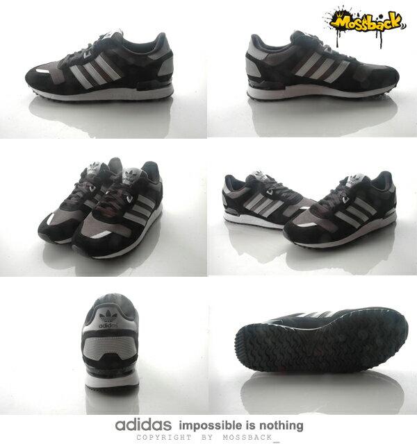 『Mossback』ADIDAS ZX 700  麂皮 反光 復古 慢跑鞋 黑灰白(男)NO:S79185 2