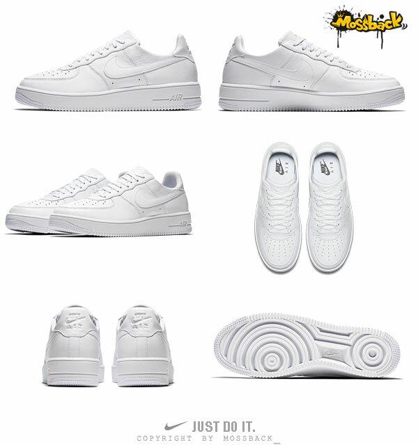 『Mossback』NIKE AIR FORCE 1 ULTRA FORCE 籃球鞋 全白(男)NO:845052-101 2
