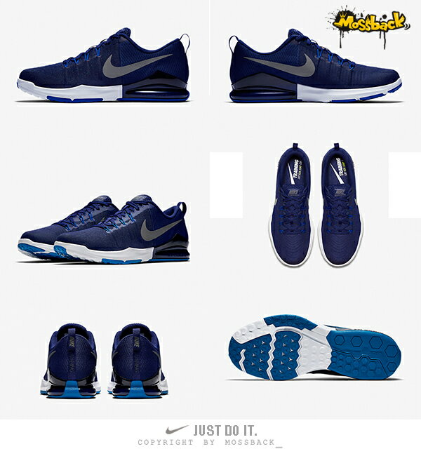 『Mossback』NIKE ZOOM TRAIN ACTION 訓練鞋 深藍(男)NO:852438-404 2